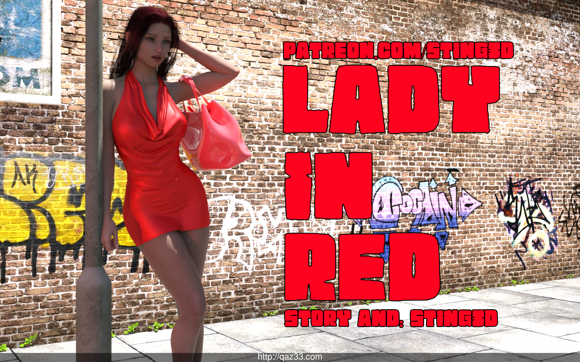 3D lady red [37P]